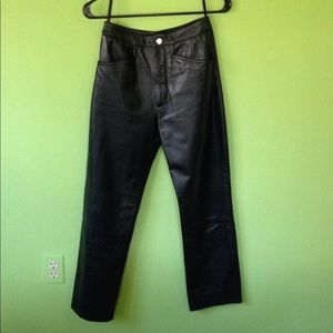 2 Wilsons Leather High Rise Pants Pockets Slim